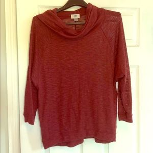 Old navy maroon cowl neck sweater